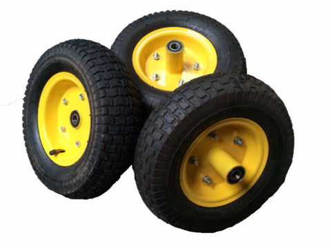 Spare Garden Cart Pneumatic Wheels 13 Inch  (16mm Axle)