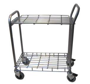 Stainless Steel Trolley with Wire Shelf - HI-36-SWST9060