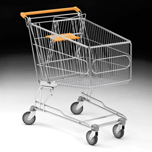 180 Litre Shopping Trolley with Baby Carrier