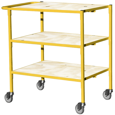 Service Trolley with 3 shelves