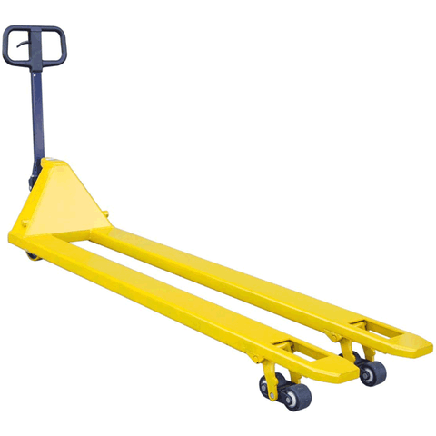 Extra long pallet truck