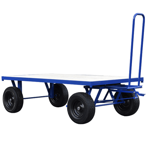Large Turntable Trolley with Parking Brake