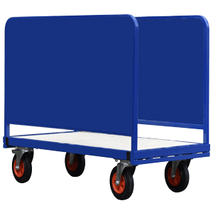 Adjustable Double Sided Trolley with Steel Sides