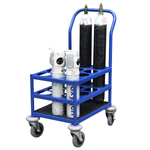 Oxygen Cylinder Trolley with canisters