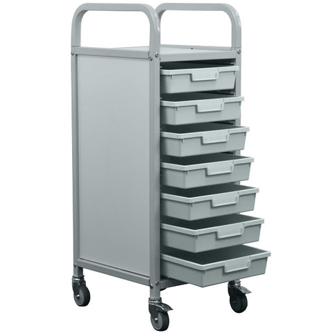 Antibacterial School Tray Storage Trolley