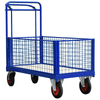 4 Sided Mesh Platform Truck or Cage Trolley with Deadman Brake Trolley