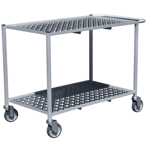 Hospital Trolley With Aluminium Shelves - HIH-15-TT50