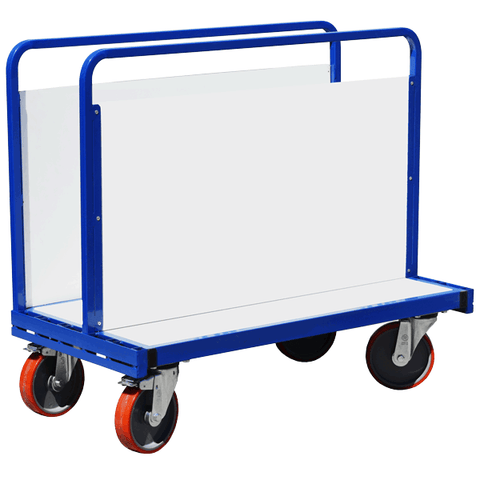 Adjustable Double Sided Trolley with Plastic Sides