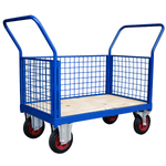 3 Sided Mesh Platform Truck or Cage Trolley
