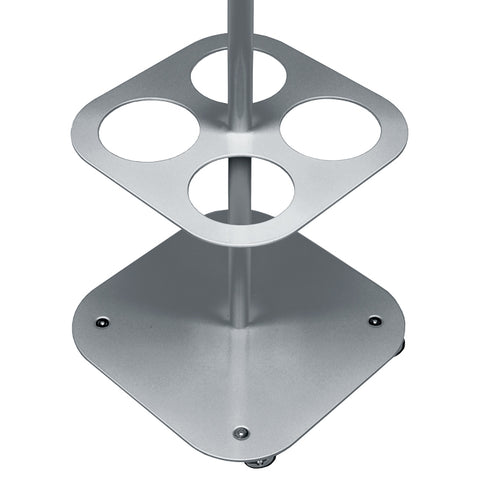 stainless steel oxygen rack with IV drip pole