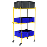 Distribution Trolley with 3 loaded shelves
