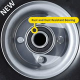 rust and dust resistant sack truck wheel bearing