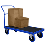 Heavy Duty Flatbed Trolley with load