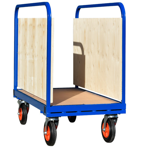 Adjustable Double Sided Trolley with Boarded Sides