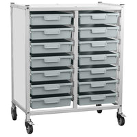 Wheeled Tray Rack Unit for Classrooms