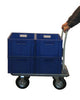 Heavy Duty Folding Flatbed Trolley in Use with Boxes