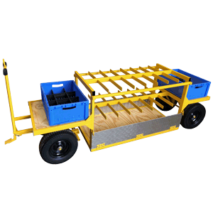 Hospital Facilities Bulk Cylinder/Gas Bottle Trolley