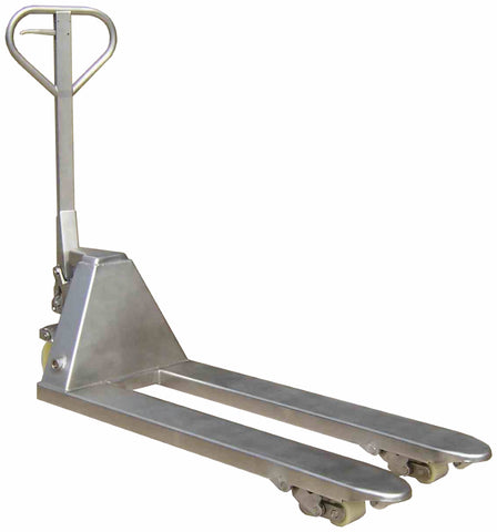 Semi-stainless steel pallet truck