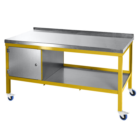 Extra Heavy Duty Mobile Workbench with Steel Top