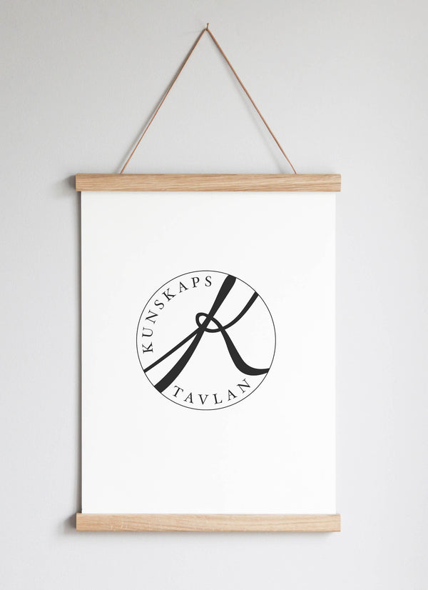 NEW DESIGN! Poster Hanger in solid oak 31 cm / 12.2""