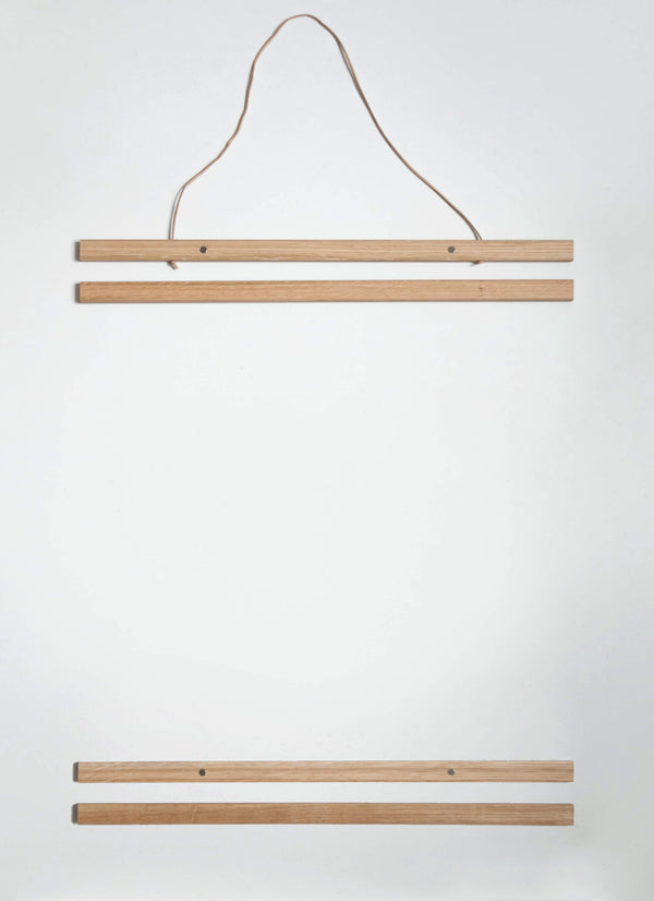 NEW DESIGN! Poster Hanger in solid oak 51 cm  / 20""