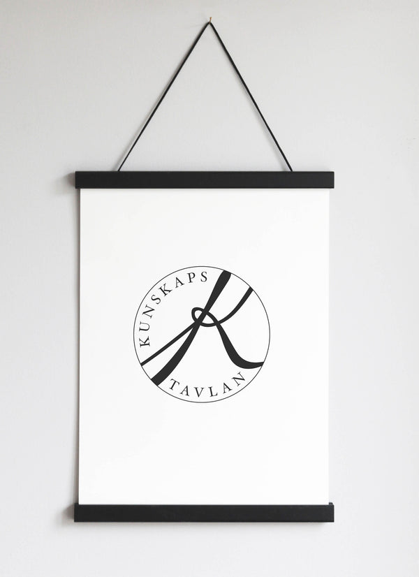 NEW DESIGN! Poster Hanger in black pinewood 31 cm  / 12,2""