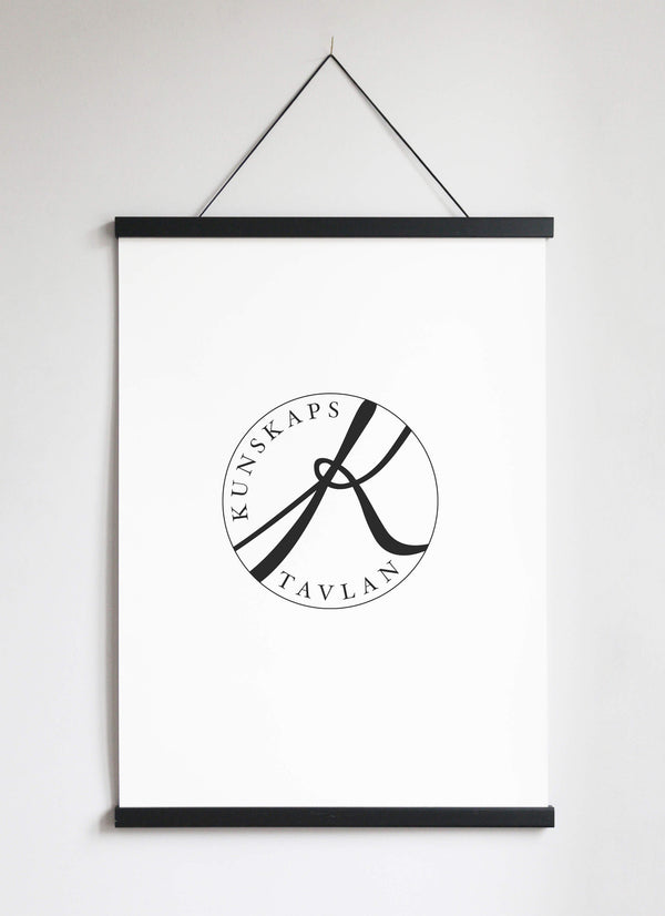 NEW DESIGN! Poster Hanger in black pinewood 51 cm  / 20""