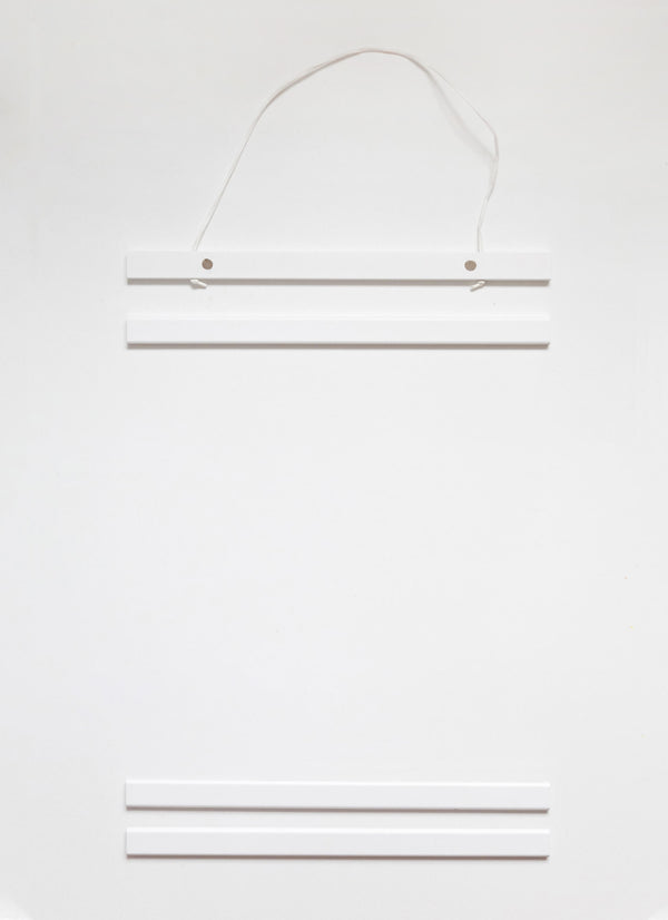 NEW DESIGN! Poster Hanger in white pinewood 31 cm  / 12,2""