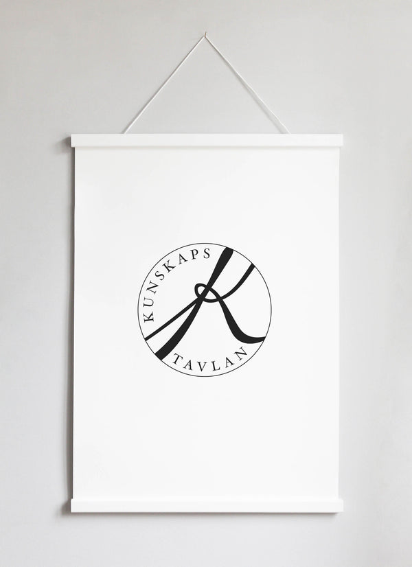 NEW DESIGN! Poster Hanger in white pinewood 51 cm  / 20""