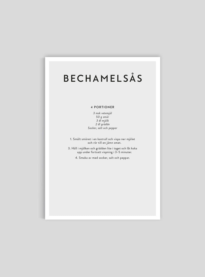 Béchamel sauce recipe in Swedish - Mini Print