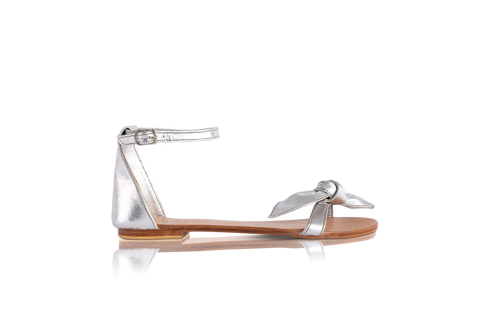 EMILY BOW SANDALS - SILVER