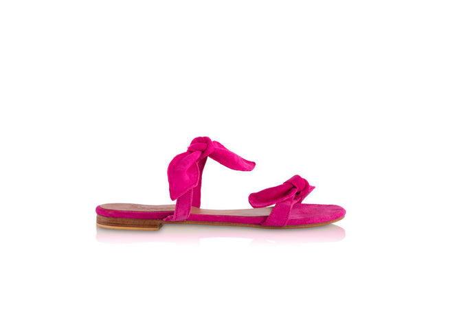 LULU SANDALS - BRIGHT PINK (MADE TO ORDER)
