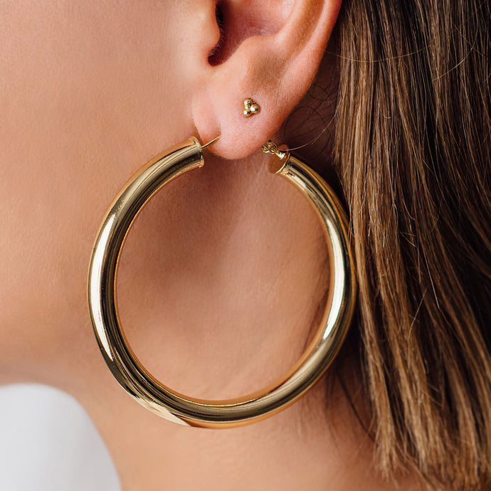 STATEMENT GOLD HOOP EARRINGS - SOLD OUT