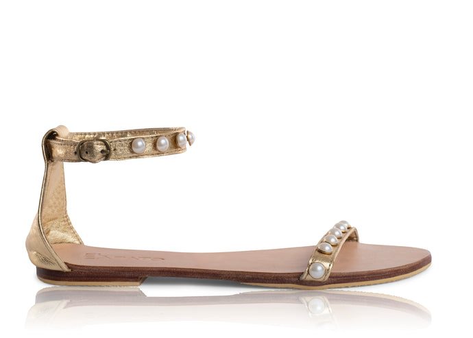 PEARL SANDALS - GOLD