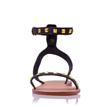 Load image into Gallery viewer, ELKE STUD SANDALS - BLACK