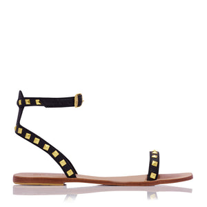 ELKE STUD SANDALS - BLACK