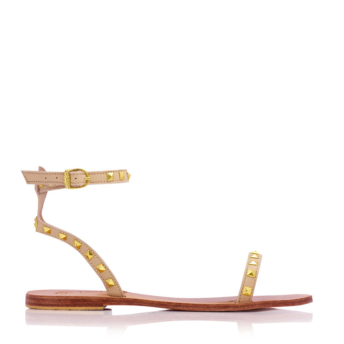 ELKE STUD SANDALS - NUDE (MADE TO ORDER)