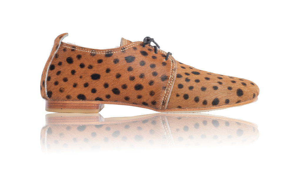 FLORENCE BROGUES - BROWN CHEETAH (MADE TO ORDER)
