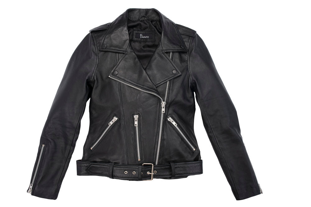 #3 BLACK LEATHER BIKER JACKET (CUSTOM MADE)