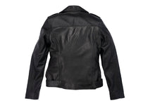 Load image into Gallery viewer, #3 BLACK LEATHER BIKER JACKET (CUSTOM MADE)