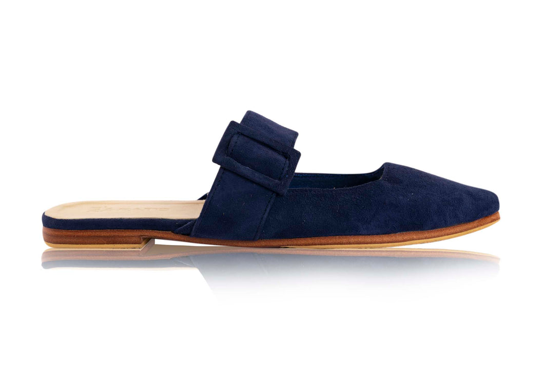 AVA BUCKLE POINTS - NAVY (MADE TO ORDER ONLY)