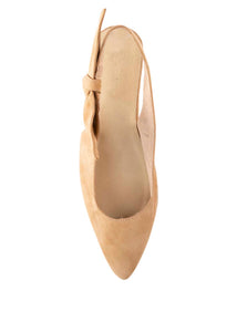 GIGI BOW SLING BACKS - CAMEL (MADE TO ORDER ONLY)