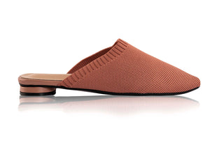 SOPHIE KNIT MULES - TERRACOTTA