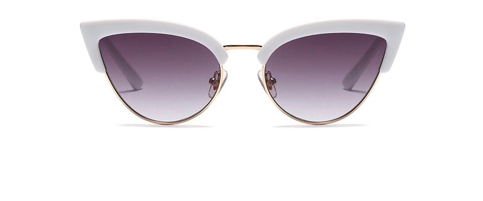 WHITE CAT EYE SUNGLASSES
