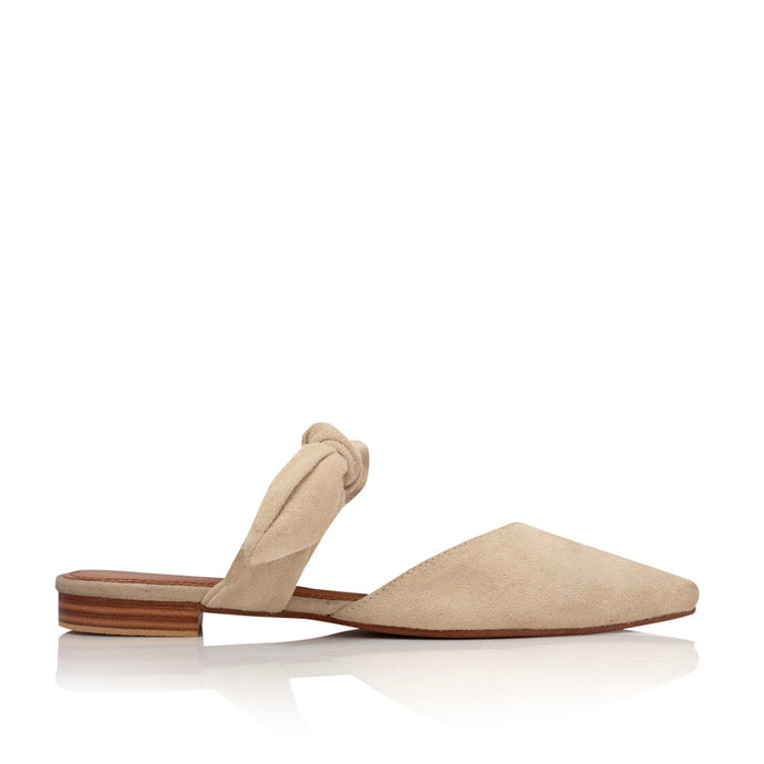 POPPY NUDE BOW MULES