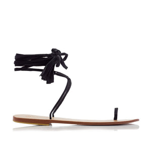 GRACE SANDALS - BLACK (MADE TO ORDER)