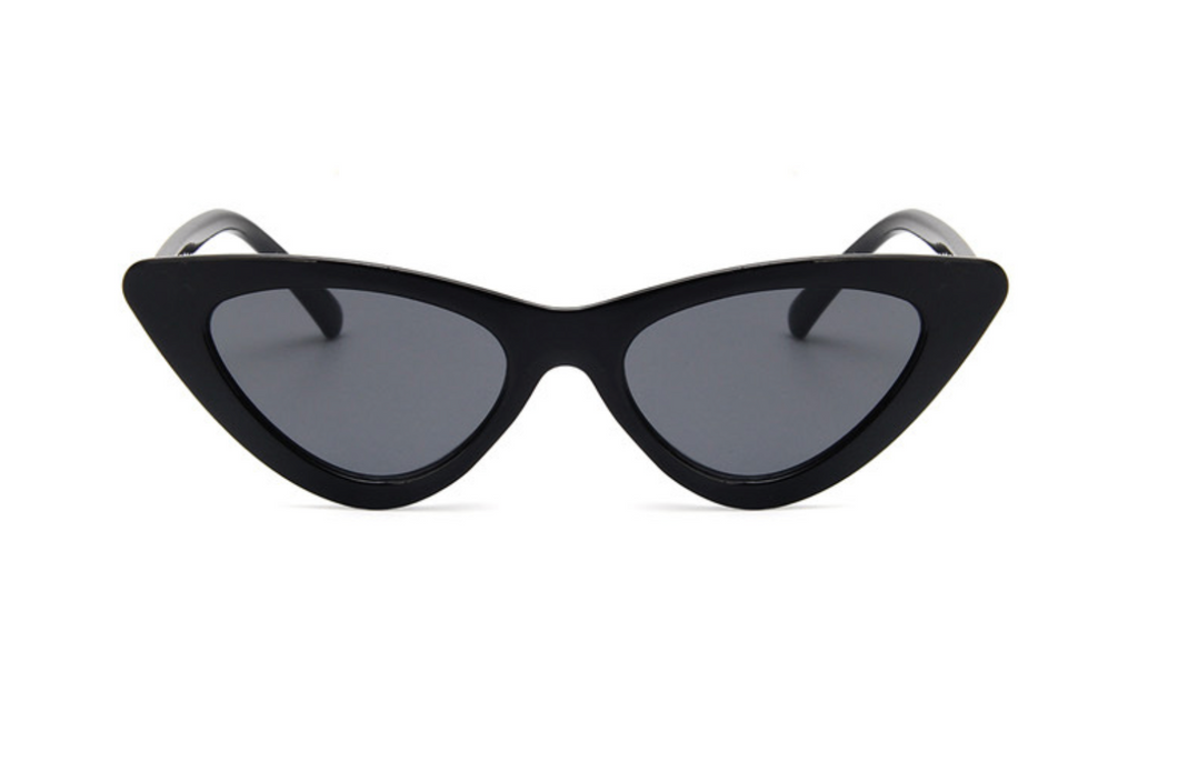 MINI CAT EYE SUNGLASSES - BLACK
