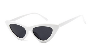 MINI CAT EYE SUNGLASSES - WHITE
