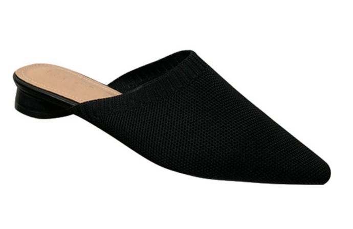 SOPHIE KNIT MULES - BLACK