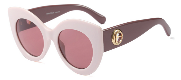 RETRO LILAC SUNGLASSES WITH PINK LENSES